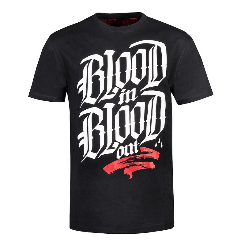 футболка blood in blood out escudo logo купить
