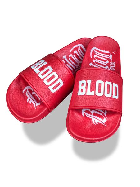 Шлепки Blood in Blood out Logo